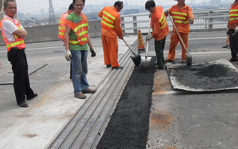 东沙大桥 桥面修补