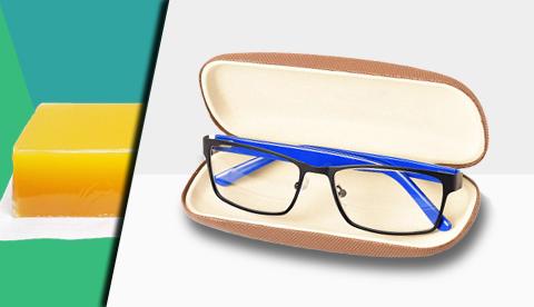 眼镜盒复合胶